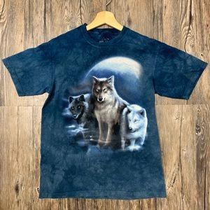 The Mountain Three Wolf Moon T-shirt
